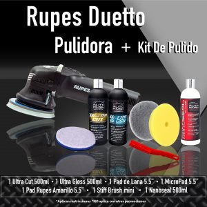 autofinish pulidora rupes duetto + kit de pulido 1-17
